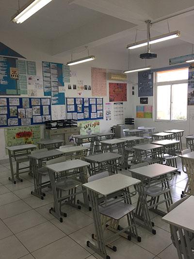 中加枫华国际学校初中部教室