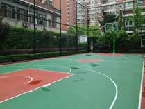 美国林登中学上海分校篮球场