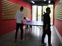 美国林登中学上海分校乒乓球室