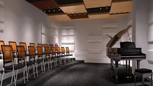 成都美联国际中学音乐教室