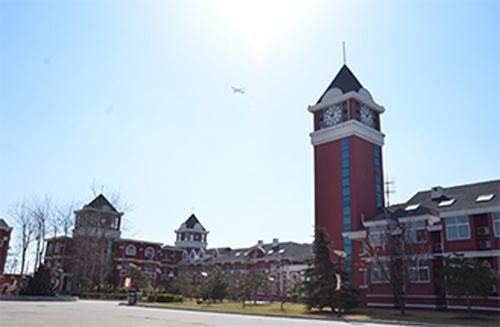 学校拥有全欧式建筑风格的校舍和顶尖的设施设备,除设有理发室,医务室图片