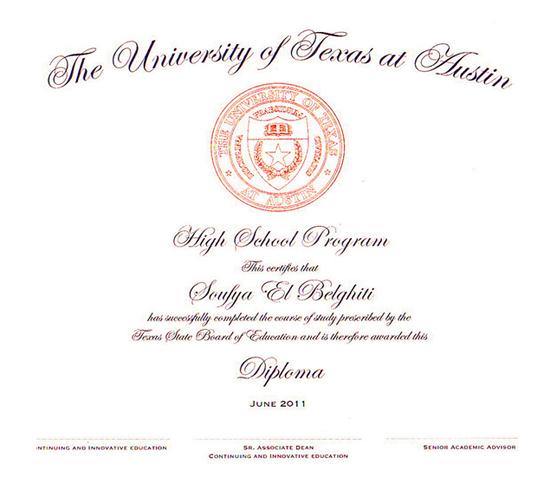 美国德州奥斯汀大学附属高中毕业证书