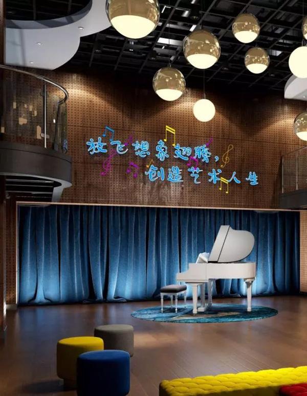 北京明诚外国语学校音乐室