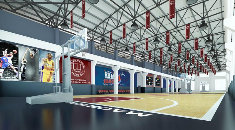 天津美达菲学校室内篮球场