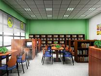博格思加州学校的图书馆